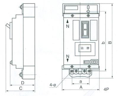 批发dz15l-40/3系列纯电磁式快速型漏电断路器
